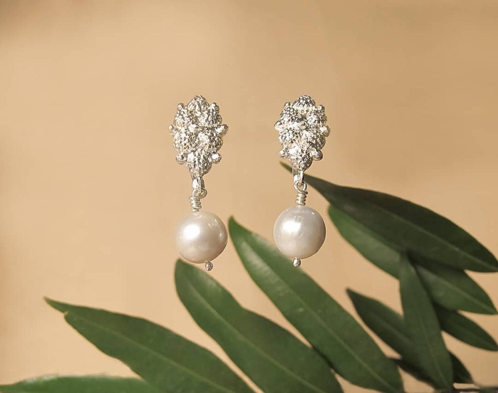 Estela Pearl Drop Earrings Made in the Philippines for Filipino Weddings