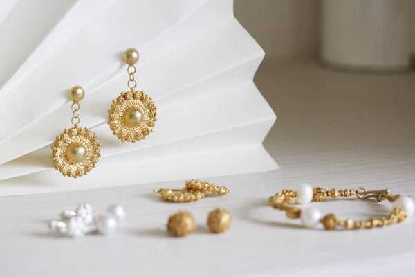 Gold filigree jewelry by AMAMI, handcrafted and designed in the Philippines. The stuff of our daydreams.