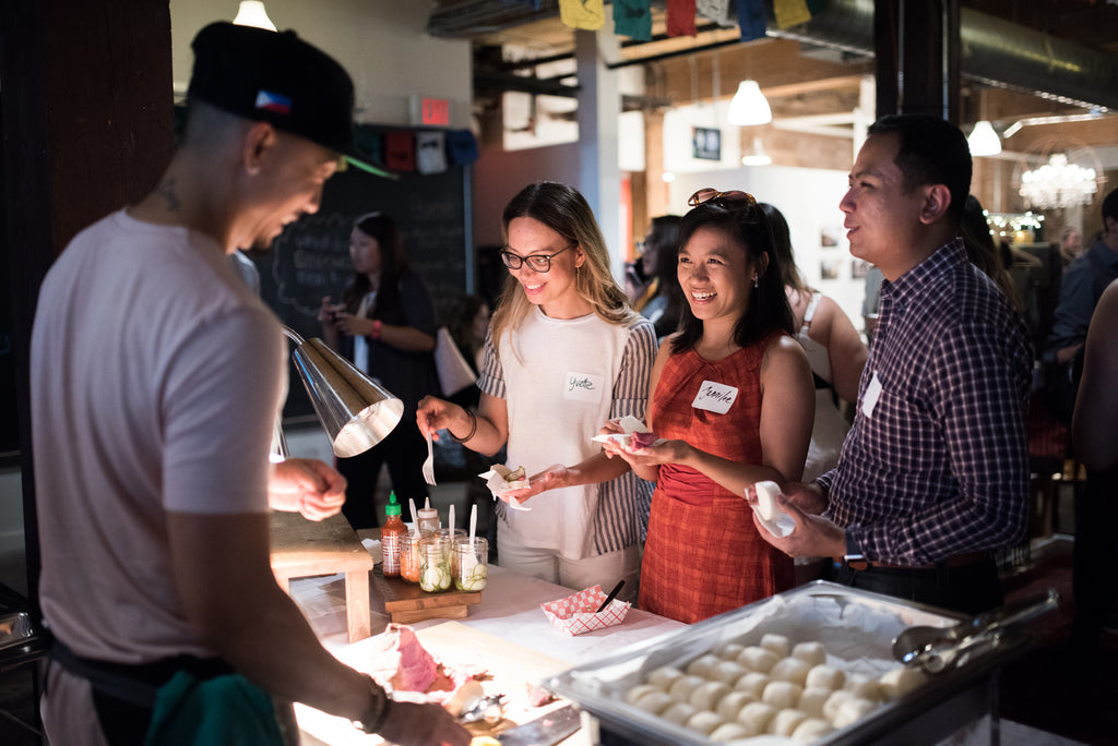 Food vendors at Fair Trade, Fashion, and Philippines event