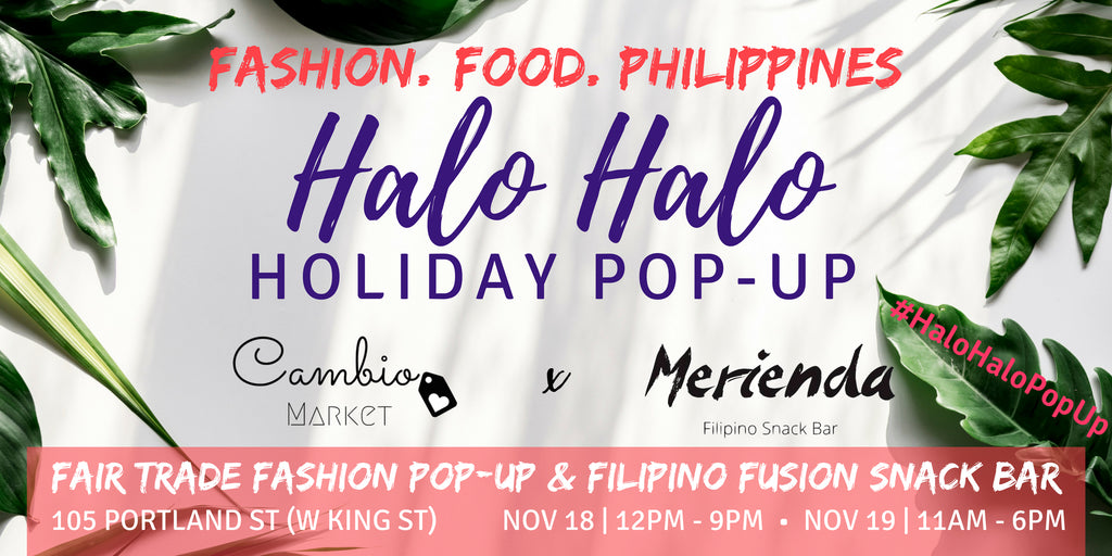 Fashion, Food, Philippines: Halo-Halo Fair Trade Holiday Pop-Up