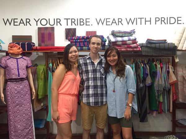 Gelaine, Jérôme and Anya at ANTHILL's store in Cebu