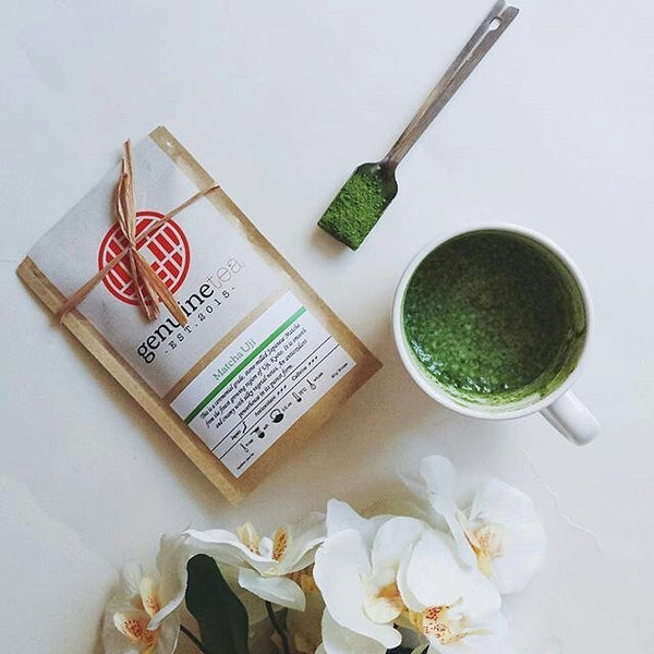 Genuine Tea: Delicious, top quality matcha tea. Add steamed milk to make a yummy matcha latte