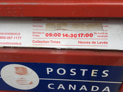 Collection Times Canada Post
