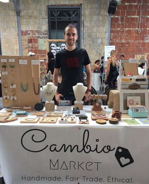 Jérôme at a fair for Cambio Market