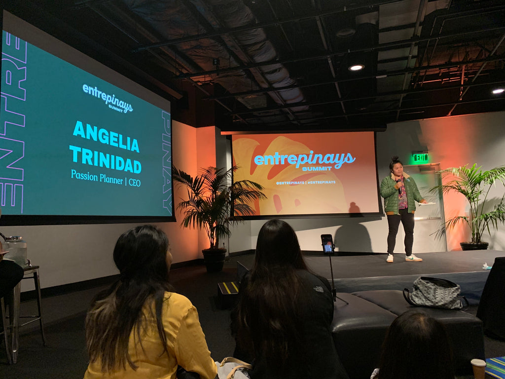 Angelia Trinidad, founder of Passion Project, speaks about her journey as a Filipina entrepreneur at the 2019 Entrepinays Summit in San Francisco at Bespoke SF.