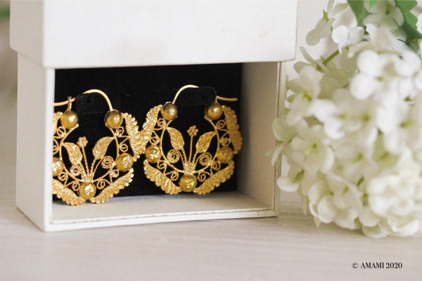 Oversized Felicia Creolla Earrings, designed and handcrafted in the Philippines.