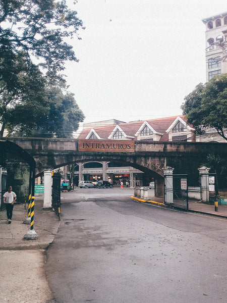 Entering Intramuros from Calle Victoria road in Manila
