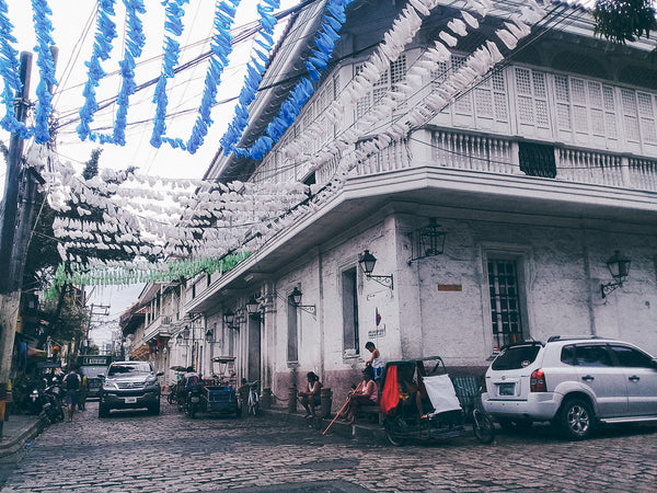 Old buildings interspersed among the barangays of Intramuros, Manila