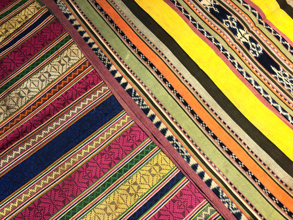 Bungasama weave from Yakan people and Malong that uses the Ikat technique