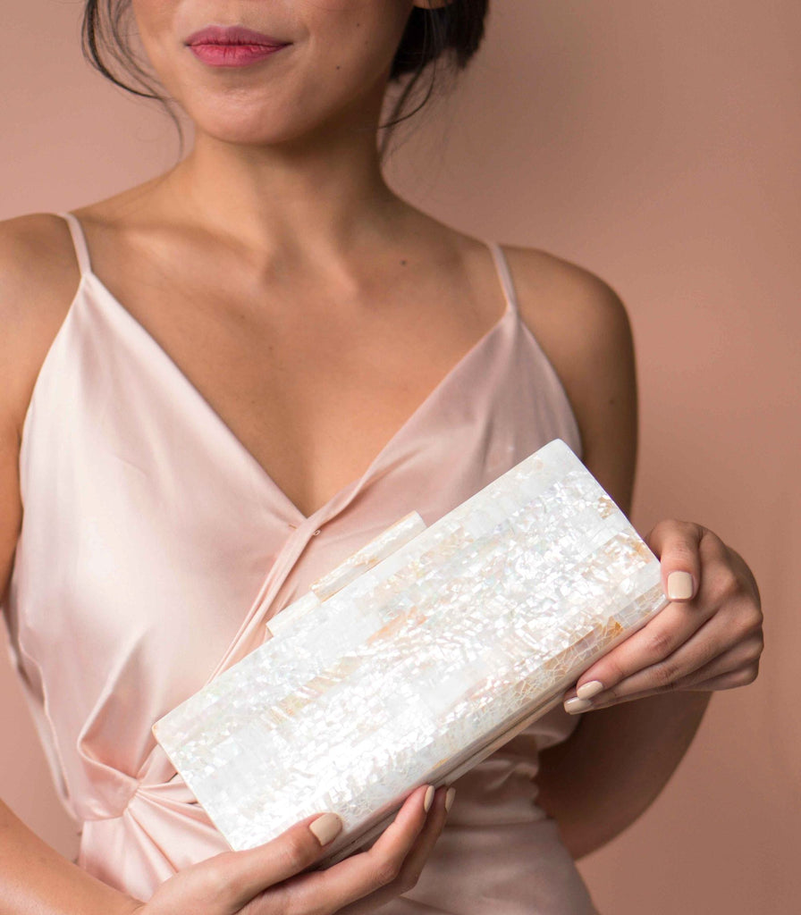 Gunita Shell Wedding Clutch