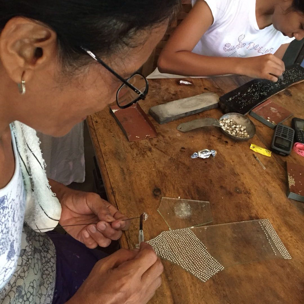 Filipino Amami Artisan Working