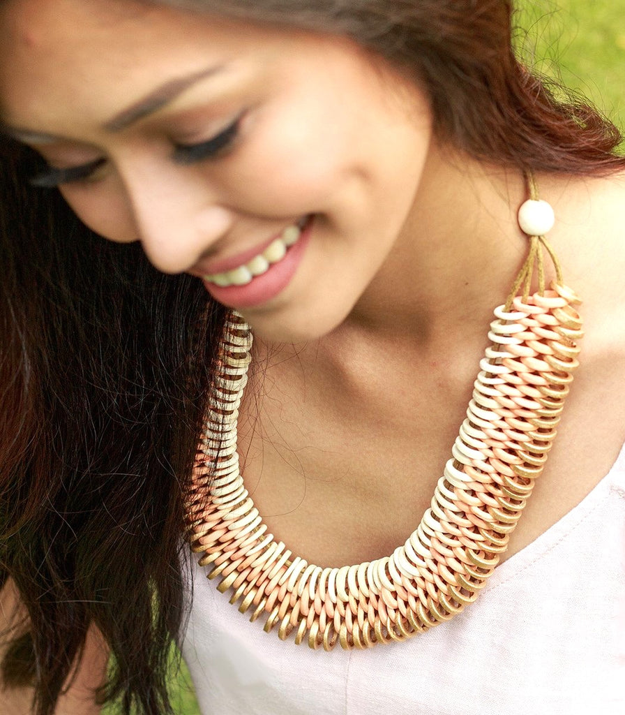 The eco-friendly Dreamweaver Necklace by Island Girl Philippines on Cambio & Co., sustainably handcrafted from upcycled coconut shells in Cebu.
