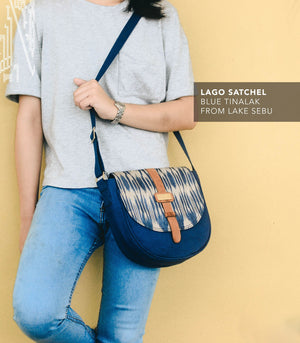 Lago Satchel in T'nalak in Blue - AKABA