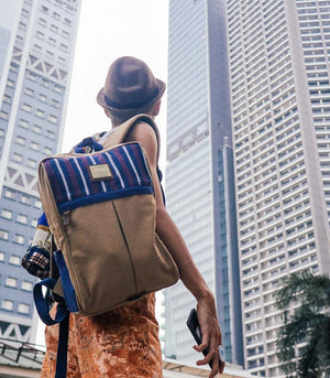 AKABA - Apuesto Backpack in Blue & Red Ramit