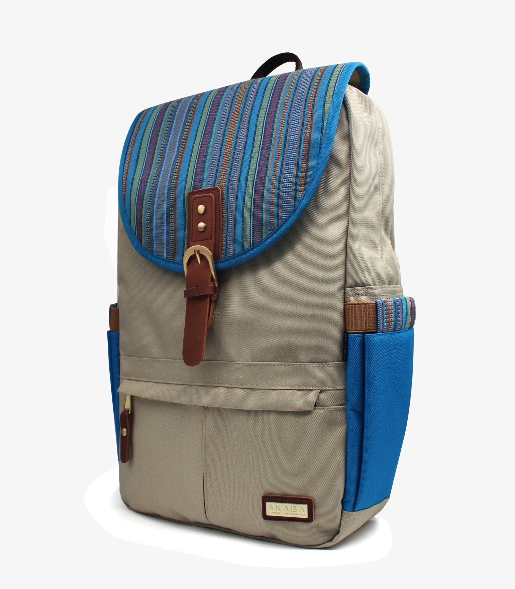 Camino Dos Backpack - AKABA - Blue Cerulean Side