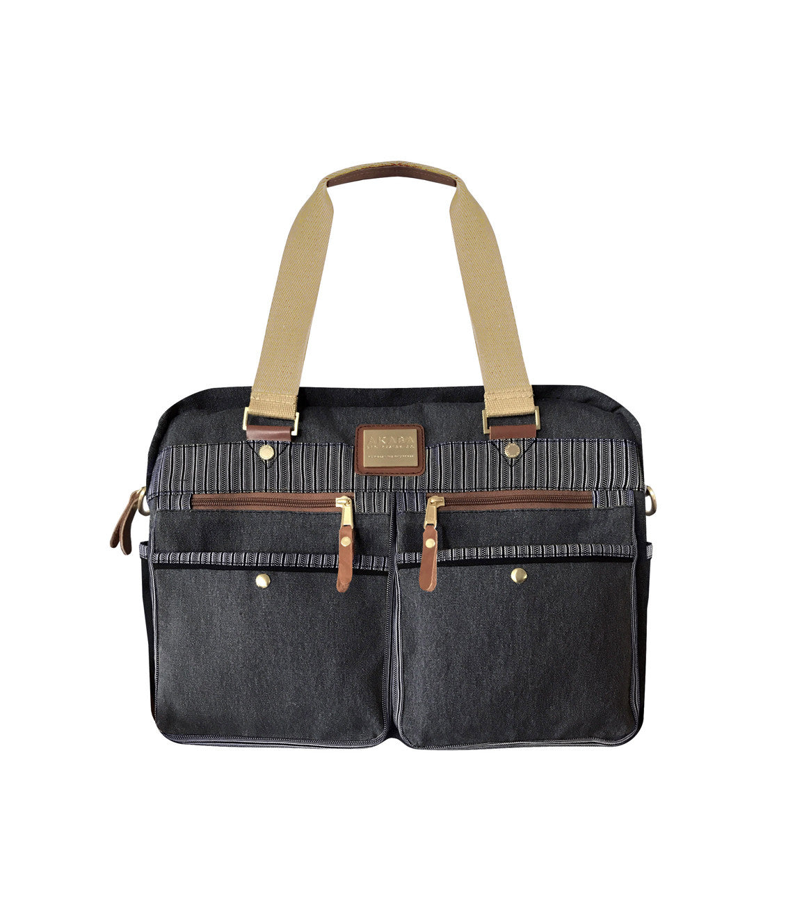 AKABA - Tercero Cargo Boston Duffle Bag Black Front