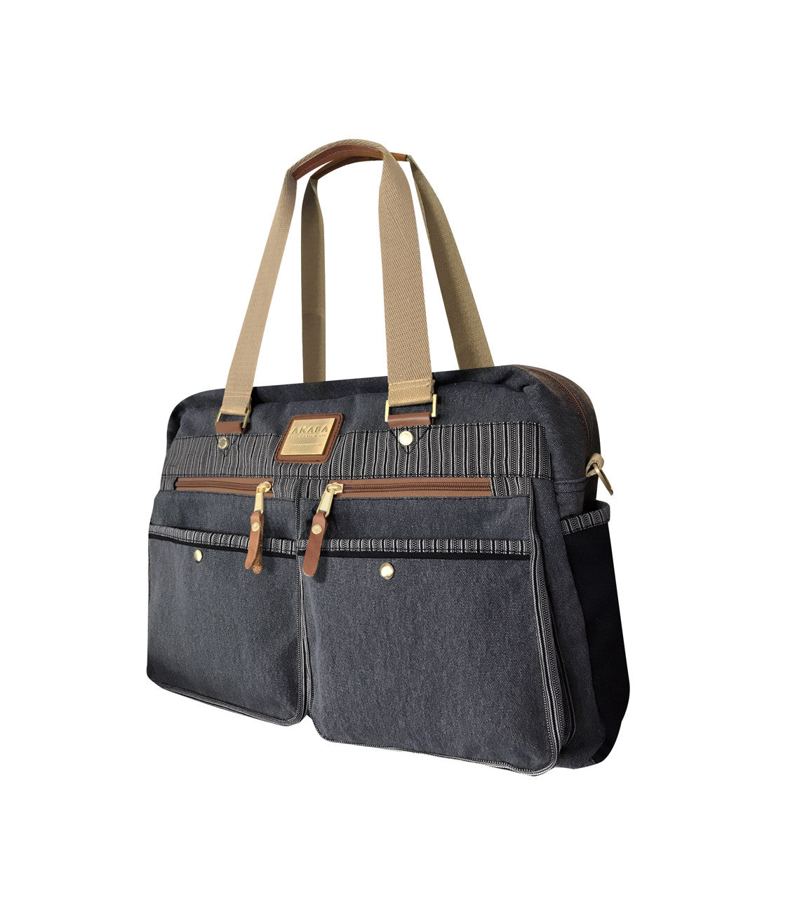 AKABA - Tercero Cargo Boston Duffle Bag Black Side