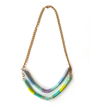 Agatha Two-Strand Upcycled Necklace - Olivia & Diego
