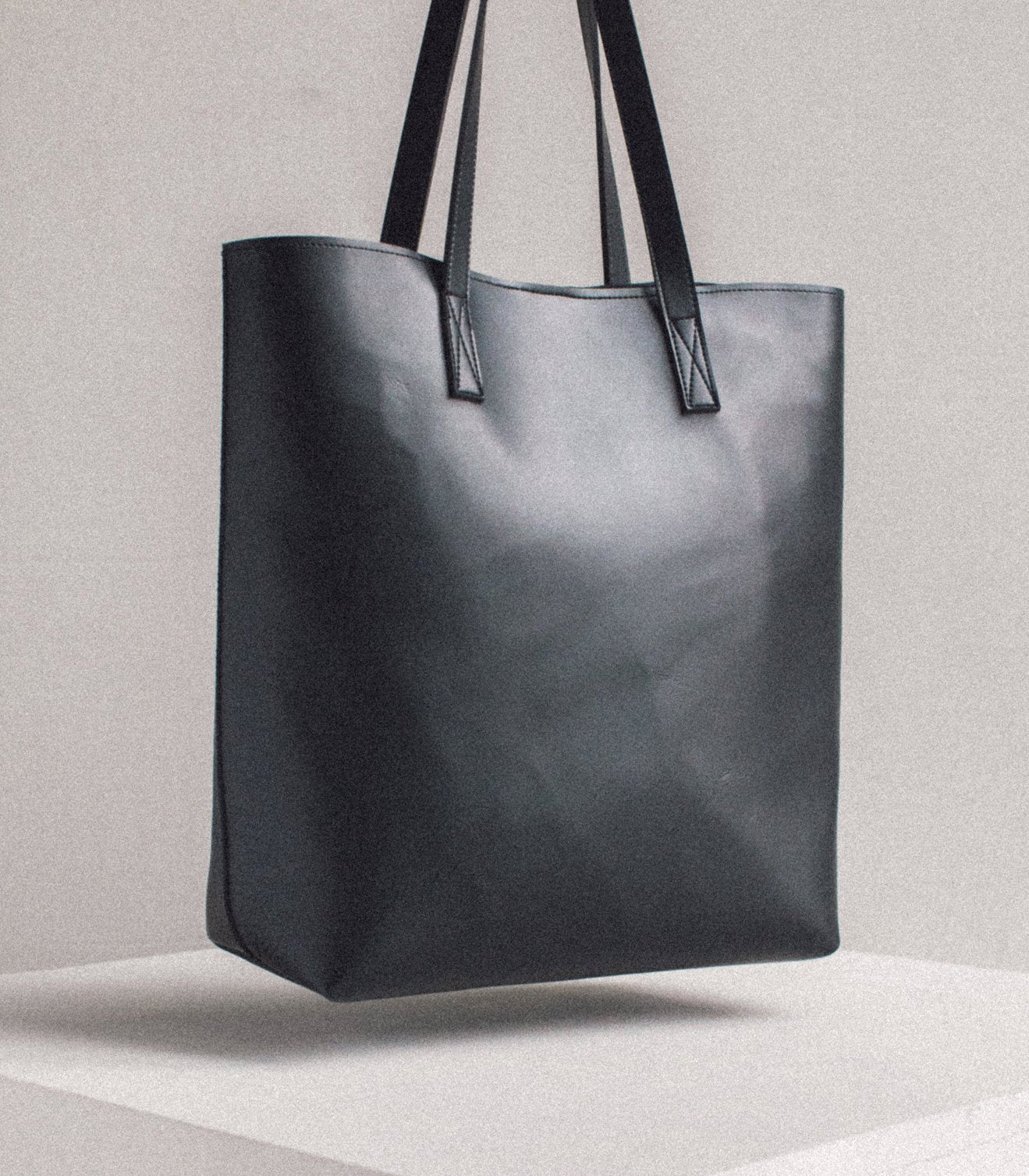 Dalisay Bayong Tote Black Vegan Leather - Vela Manila