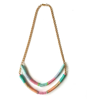 Danica Two-Strand Upcycled Necklace - Olivia & Diego
