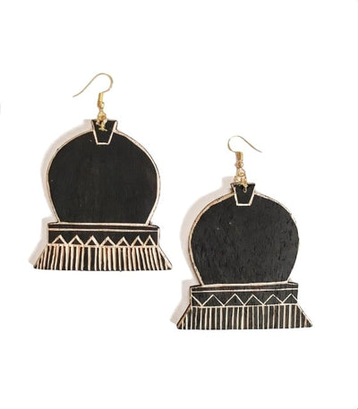Kampana Wooden Earrings - En Route