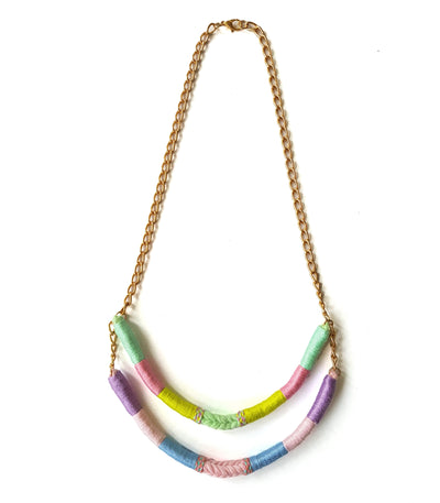 Giselle Two-Strand Upcycled Necklace - Olivia & Diego