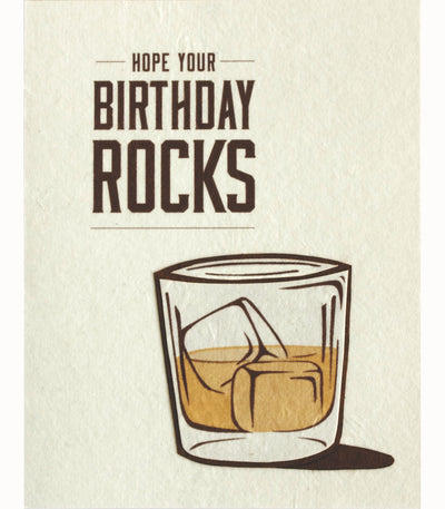 Birthday Rocks Handcrafted Greeting Card - Good Paper