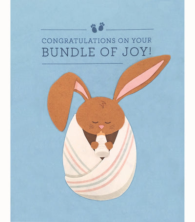 Bundle of Joy Baby Greeting Card - Good Paper