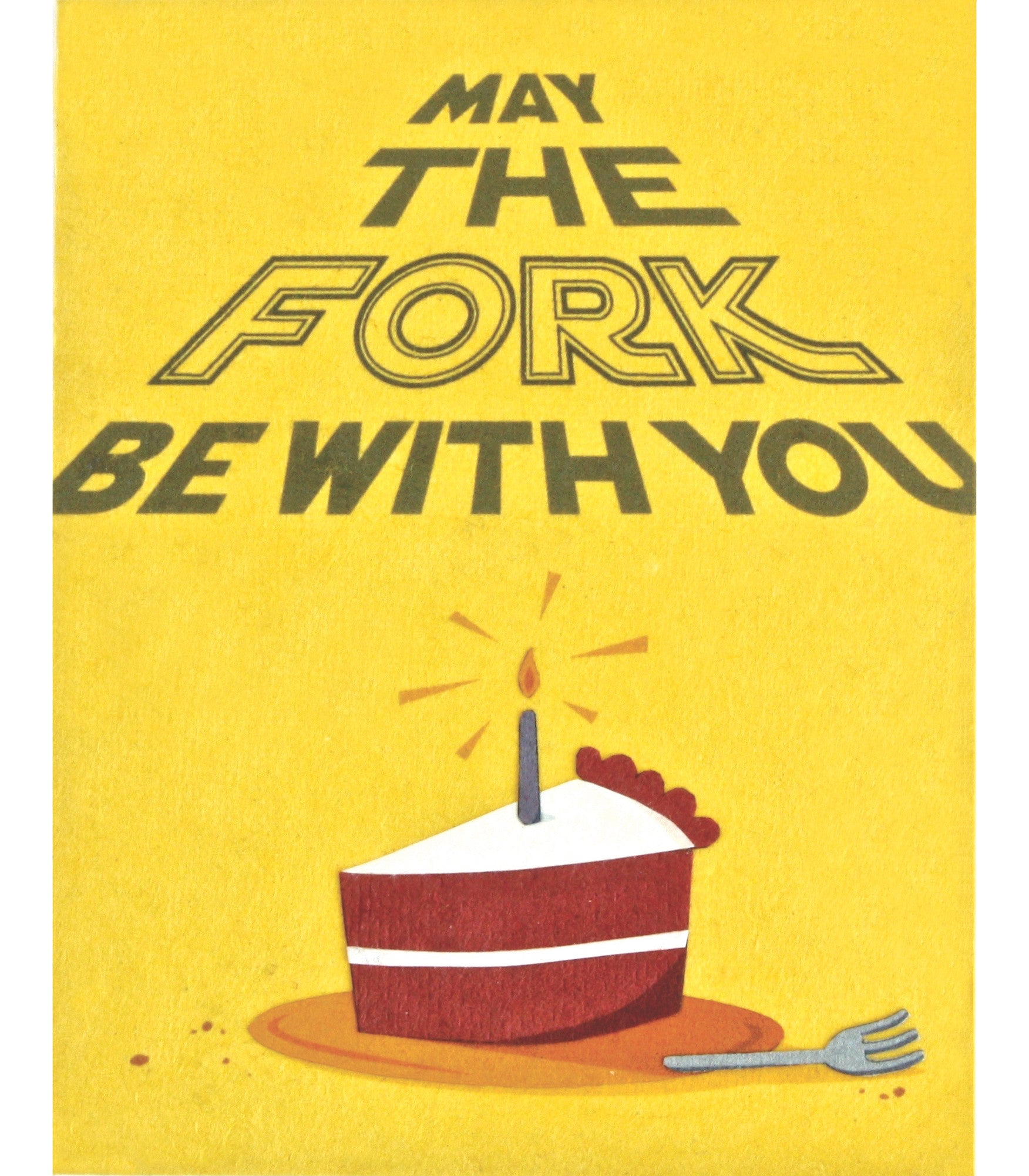 Fork Be With You Handcrafted Greeting Card - Good Paper