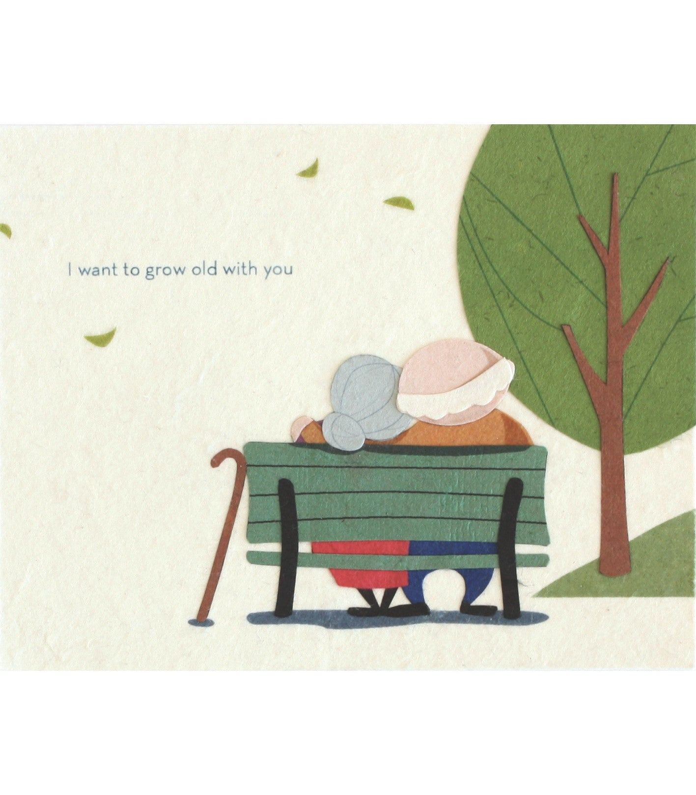 Grow Old With You Handcrafted Greeting Card - Good Paper