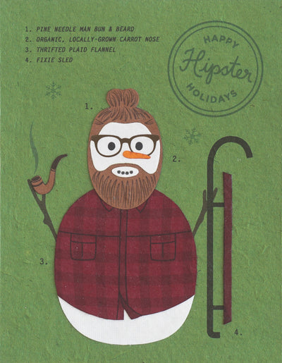 Good Paper - Hipster Holidays Handcrafted Card