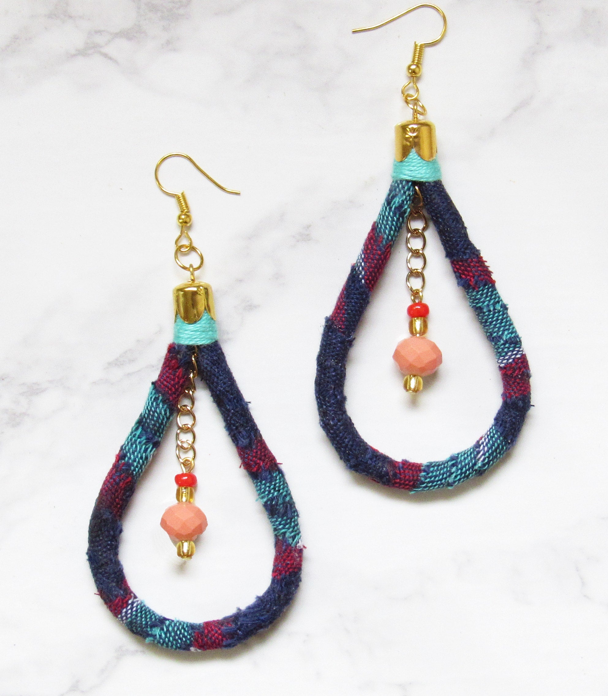 Kantarines Bead Earrings - Pink