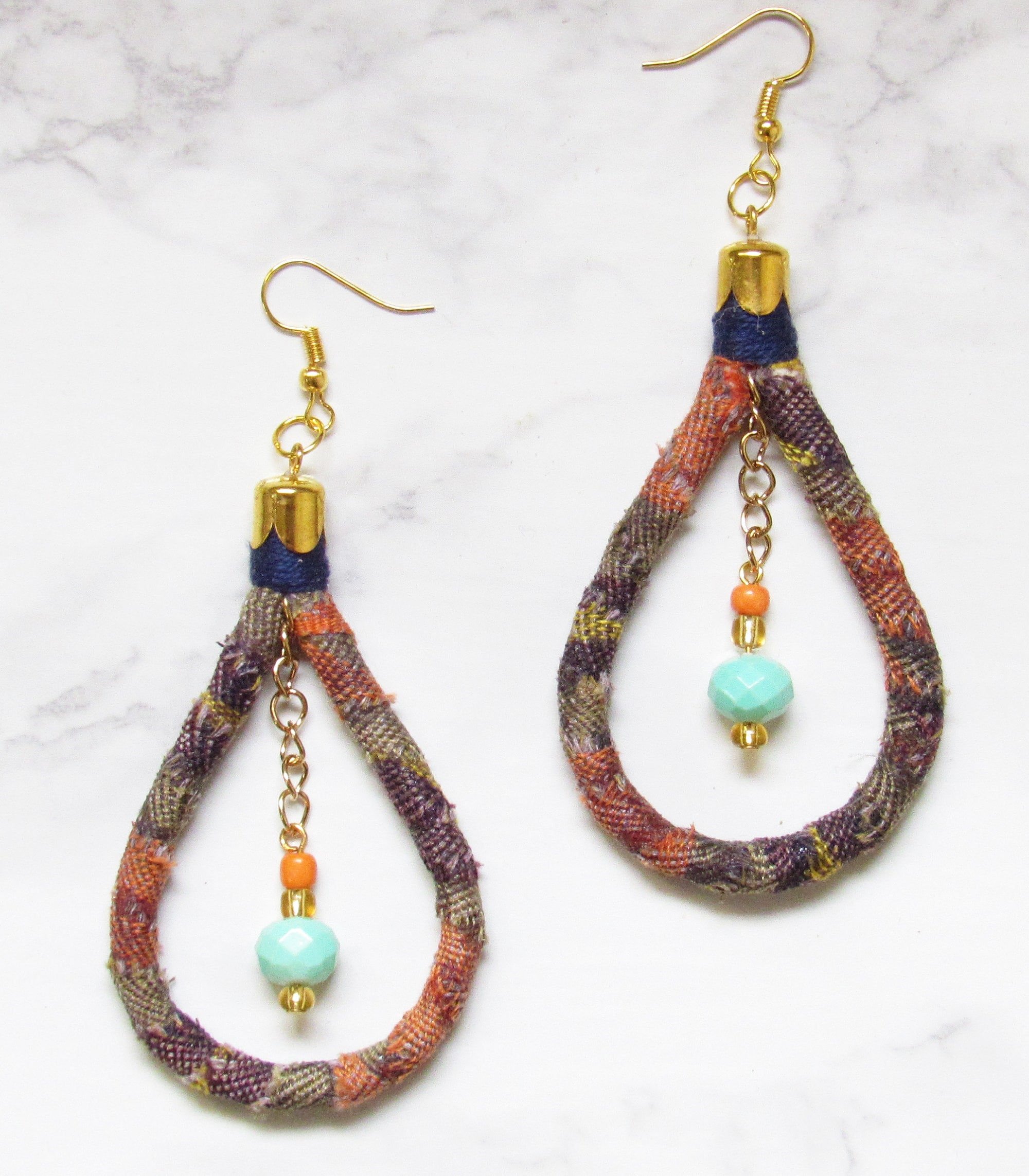 Kantarines Bead Earrings - Turquoise