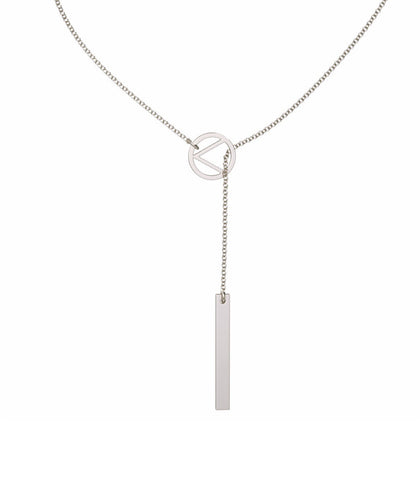 Love Lariat Necklace Sterling Silver - Liberti