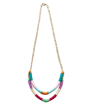 Simone Two-Strand Upcycled Necklace - Olivia & Diego