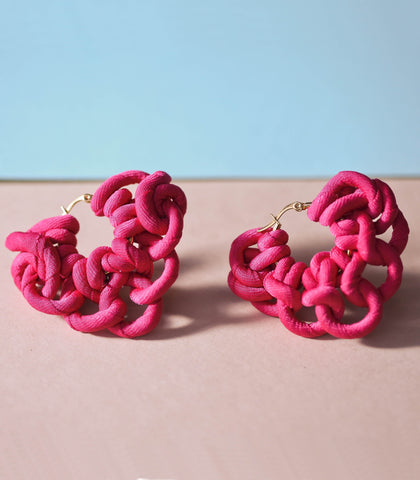 Philippa Earrings - Fuchsia - PIESA