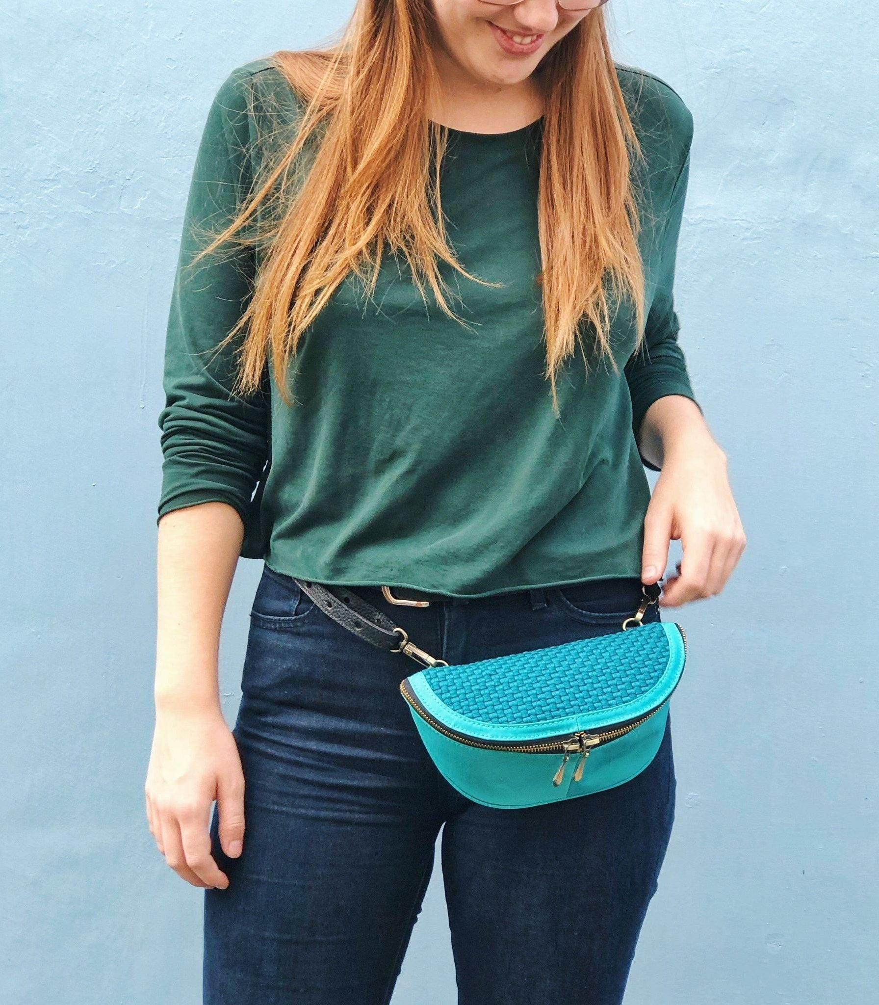Noah Fanny Pack in Teal - Rags2riches