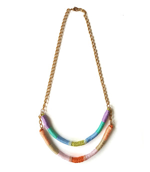 Serena Two-Strand Upcycled Necklace - Olivia & Diego