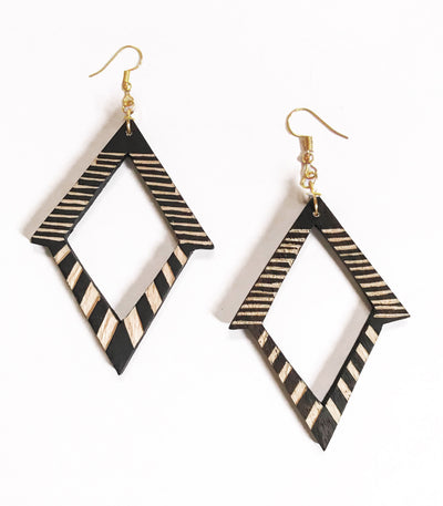 Tala Tboli Wood Earrings - En Route Handcrafted