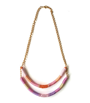 Tara Two-Strand Upcycled Necklace - Olivia & Diego