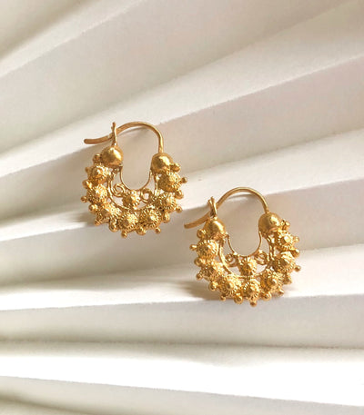 Fatima Creolla Filigree Earrings - AMAMI