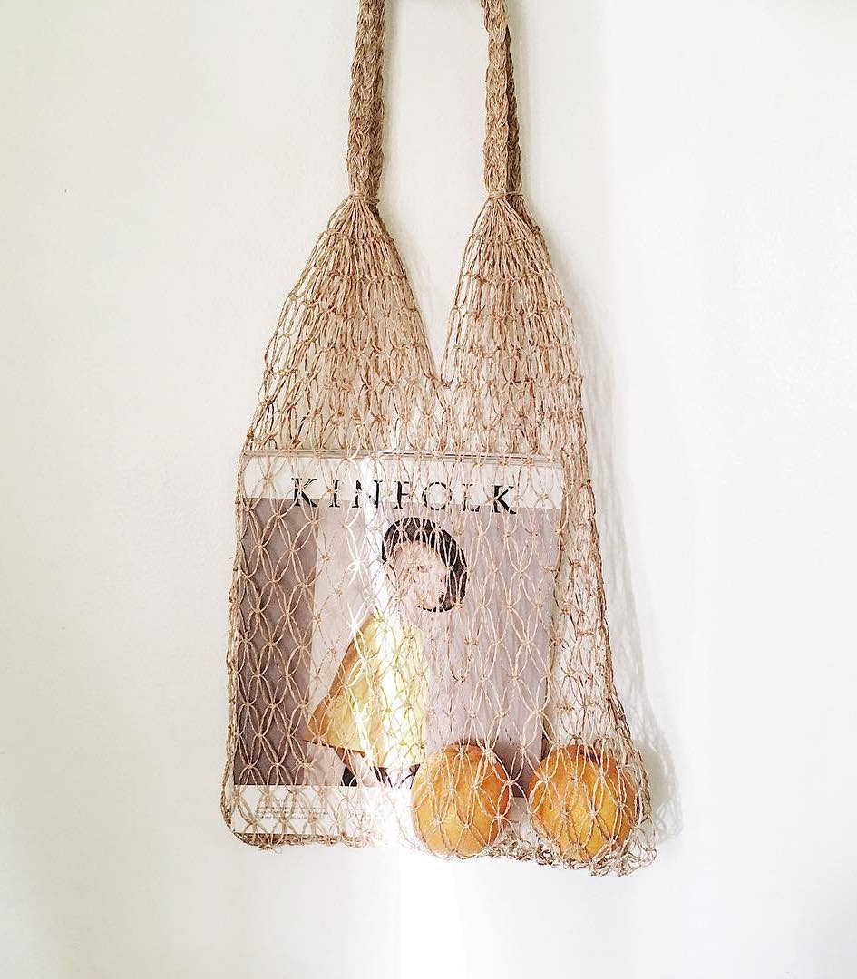 Aurora Market Tote with a magazine - Habin Philippines