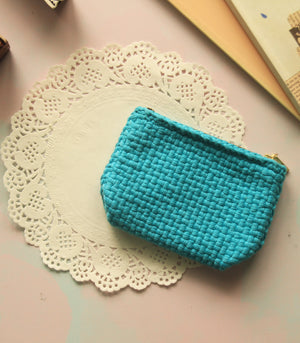 Buena Zip Coin Purse in Turquoise - Rags2Riches