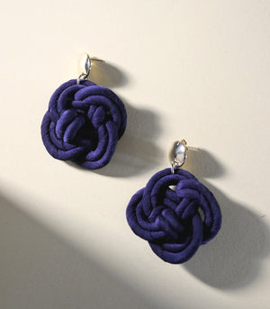 Cai Earrings in Midnight Blue - PIESA