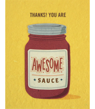 Awesome Sauce Handcrafted Greeting Card - Good Paper