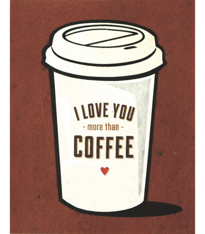 Coffee Love Handcrafted Greeting Card - Good Paper