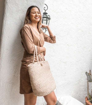 Kamila Tote Bag in Natural Colour by Habin