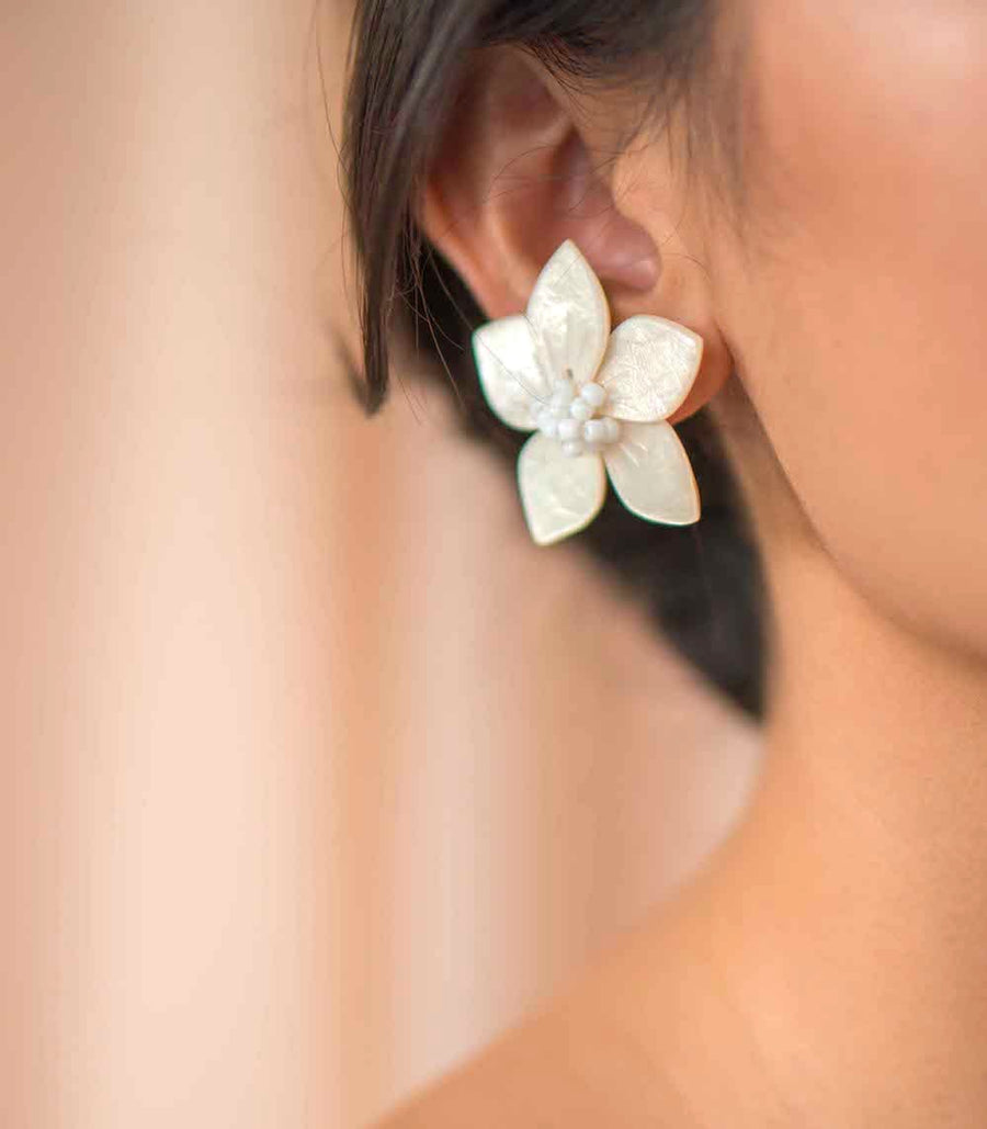Mariana Capiz Earrings - Island Girl