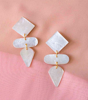 Renata Capiz Earrings - Island Girl