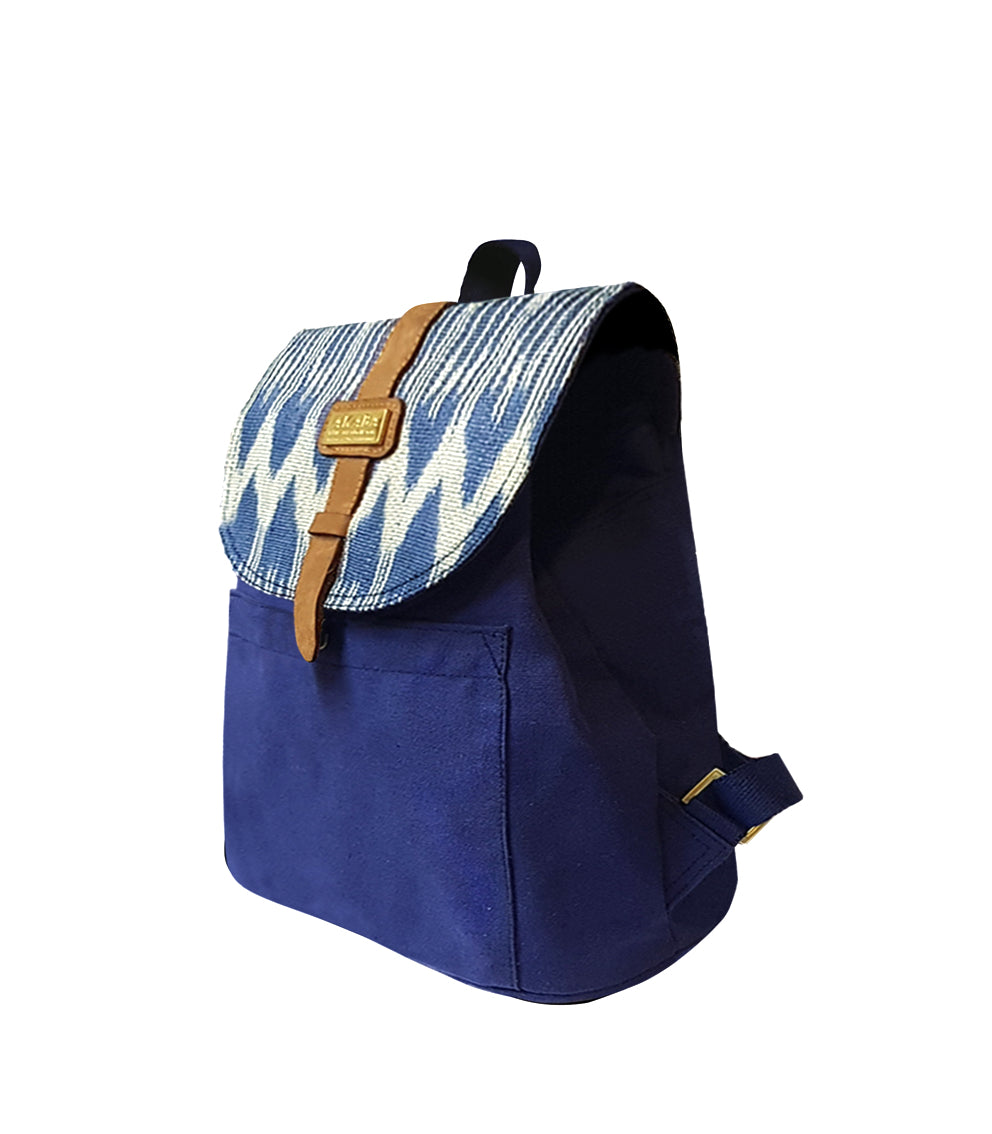 Lago Mini Knapsack Blue T'nalak Side - AKABA